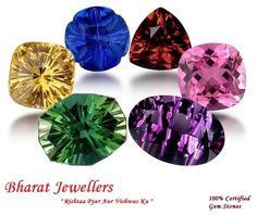 An Amazing Collection Of Precious Certified #Gemstones Including #Neelam, #Pukhraj, Diamond, #Moti, #Panna, #Maanik, #Lahsuniya, #Gomed And #Ruby.