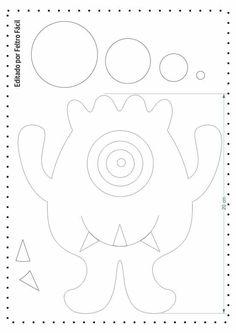 - Home Decor Ideas Puppet Crafts, Felt Crafts, Felt Patterns, Sewing Patterns, Sewing Crafts, Sewing Projects, Monster 1st Birthdays, Quiet Book Templates, Ugly Dolls