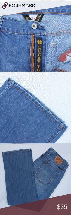 Lucky Brand men's jeans size 34 x 32 Men's Lucky Brand jeans style 7MP1000 straight leg Lucky Brand Jeans Straight