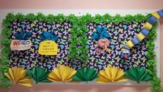 VBS bulletin board Read A Thon, Church Bulletin Boards, Vacation Bible School, Summer Kids, Birthday Ideas, Weird, Projects To Try, Leaves, Club
