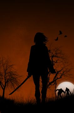 The Walking Dead - Michonne by ~CharmingBrit I think I could paint this!!