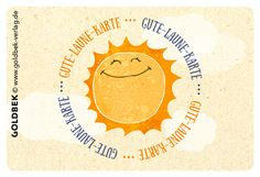 Postkarten - Gute Laune. Have a sunny day!