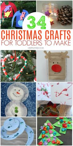 Simple, effective and most of all fun! Fantastic Christmas crafts for toddlers that they'll love and you will too! Ornaments, Christmas tree crafts and Easy Christmas Crafts For Toddlers, Preschool Christmas Crafts, Animal Crafts For Kids, Toddler Christmas, Christmas Crafts For Kids, Simple Christmas, Holiday Crafts, Christmas Ideas, Art Activities For Toddlers