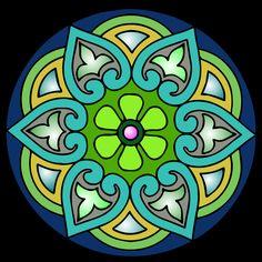 Mandalas Ideas: Mandala 2 x 1, Un diseño + dos combinaciones