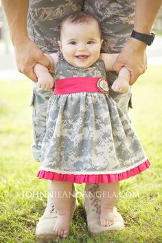 Johnnie and Angela: Baby Deployment Homecoming Dress #Deployment