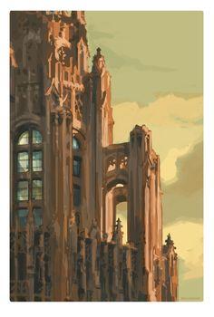 Tribune Tower, Chicago fine art print, Brad Cornelius 2015