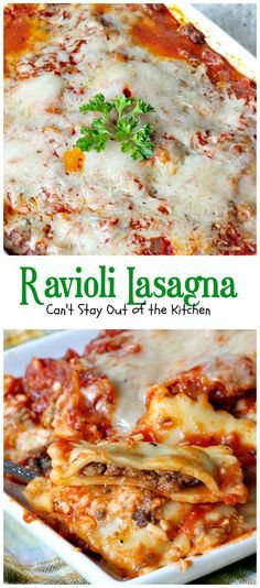 Ravioli Lasagna   Can't Stay Out of the Kitchen