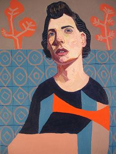 Meirion Alan Ginsberg. Girl with Patterned Dress