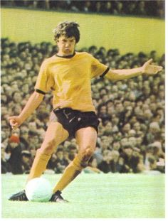 August 1969. One of the last picture's of Peter Knowles in a Wolves shirt. He retired on September 6th having scored three goals already this season but found religion to ease a troubled mind.