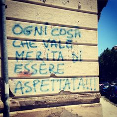 Wait-Esperar-Aspettare - Messina - Sicily - Italy