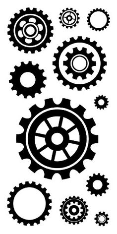 Cogs And Gears Clear inkadinkado clear stamps stämplar 4x8 tum - 60-30843