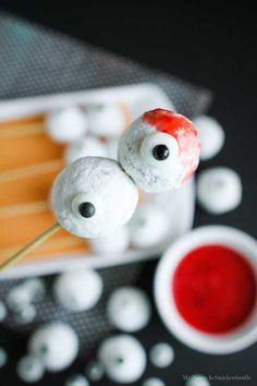 Skewered Eyeballs Halloween Treat | Eighteen25