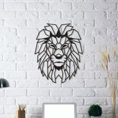 Fancy | Lion Head | Metal Wall Art