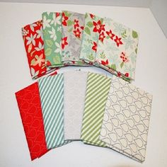 Assorted April Showers Fat Quarter Bundles Quilt or Craft Fabric - 10 Pieces
