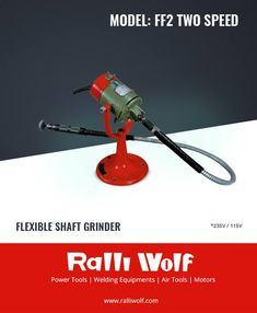 Ralliwolf FF2 is designed for grinding at intricate locations or difficult to reach places. Due to its light flexible shaft, it can be used for wide range of applications in industries very conveniently for intricate grinding.