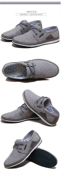 Весной и летом белье дышащий холст обувь корейской версии тенденции повседневной обуви старого Пекина мужские шнурках Супер - Taobao