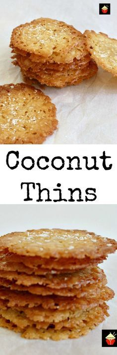 Coconut Thins! If you like crisp, caramel,coconut and sweet then these little treats are for you! They're absolutely delicious and will store for up to a week if you wish to make ahead. They also make lovely gifts too! Nice easy recipe using regular ingredients. | http://Lovefoodies.com