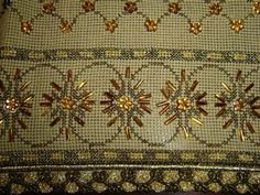 (6) Gallery.ru / Фото #8 - diafora - ergoxeiro Couture Embroidery, Beaded Embroidery, Cross Stitch Embroidery, Embroidery Designs, Cross Stitch Borders, Bargello, Stitch Design, Clay Beads, Beading Patterns