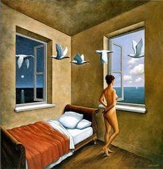 ARTISTIC QUIBBLE................Wizyta - Rafal Olbinski