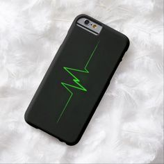 BOLO Green Lightning Symbol iPhone 6, Barely There Case by BOLO Designs.