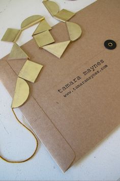Geometric pieces of leather. Use different shapes for bunting. Not just triangles.