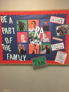 Apply to be an RA!! It's been one of the bet experiences of my college career!! #RAlife #reslife #bulletinboard #family #college
