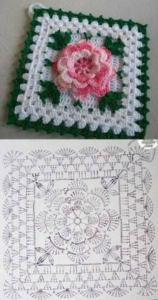 Tack with a flower knitted a hook. A beautiful tack for kitchen a hook rose, crochet, can be a nice d - Salvabrani Another inspiring and simple c This Pin was discovered by Cla Shrink your URLs and get paid!Handmade shabby chic crochet tablet cover w Col Crochet, Crochet Puff Flower, Crochet Doily Diagram, Granny Square Crochet Pattern, Crochet Flower Patterns, Crochet Pillow, Crochet Chart, Crochet Squares, Crochet Granny