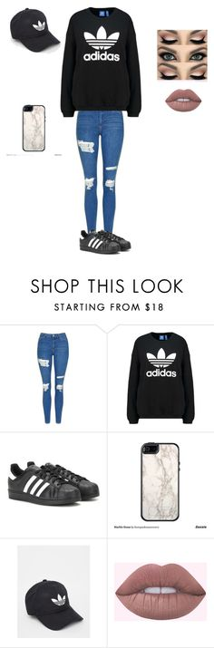 """""""1st day of school"""" by niyahgipson ❤ liked on Polyvore featuring Topshop, adidas Originals, adidas and OtterBox"""