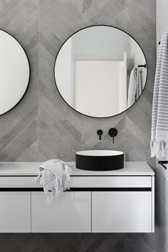 Mirror Bathroom Modern Best Of Chevron Modern Grey Tile Bathroom Wall Ideas Bathroomtileideas Neutral Bathroom Tile, Laundry In Bathroom, Grey Bathrooms, Budget Bathroom, Bathroom Renovations, Modern Bathroom, Bathroom Ideas, Bathroom Designs, Master Bathroom
