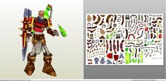 Papercraft .pdo file template for League of Legends - Singed.