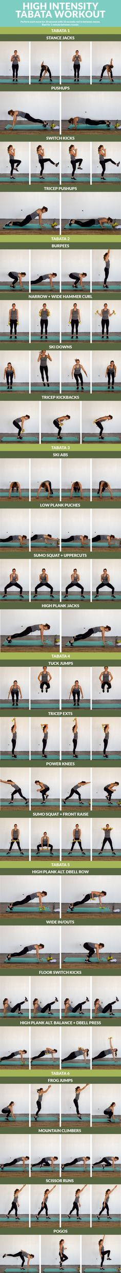 High-Impact-Tabata-Workout Easy Ab Workout, Tabata Workouts, Hiit,