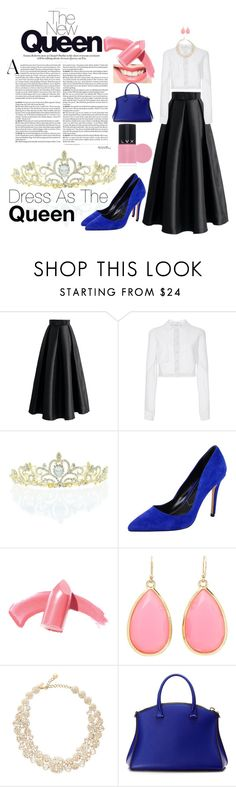"""Queen"" by hedvigaarts on Polyvore featuring Chicwish, Carolina Herrera, Kate Marie, Charles by Charles David, Elizabeth Arden, Kate Spade, VBH and LVX"