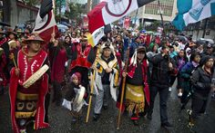 First Nations' people in traditional dress take part in a Truth and Reconciliation march in Vancouver Indian Residential Schools, Downtown Vancouver, First Nations, Historical Photos, Traditional Dresses, British Columbia, North America, The Past, September 22