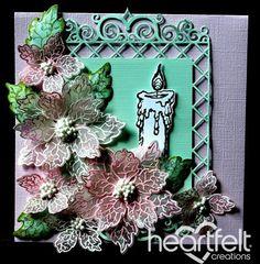Heartfelt Creations | Vellum Poinsettias