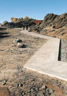 Cap de Creus in Cadaqués, Spain Existing roads were modified or eliminated to boost the site's capacity to handle tourists. In this way, the designers transform the park into a natural preserve while still respecting its history as a human landscape.