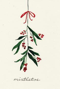 Mistletoe als Alu-Dibond Druck von Nathalie Köslin | JUNIQE