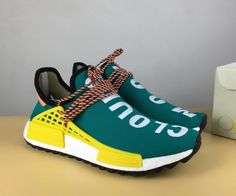 meet 78645 c9a8a Pharrell x adidas NMD Hu Trail Sun Glow Core Black-EQT Yellow, Not just the  build of the adidas NMD Hu shown are inspired by the Fall but even the  color ...