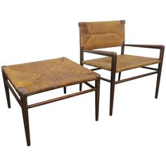 Chair and Ottoman By Mel Smilow   From a unique collection of antique and modern armchairs at http://www.1stdibs.com/furniture/seating/armchairs/