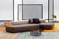 Modul-Sofa / modern / für Innenbereich / Textil RIFT MOROSO