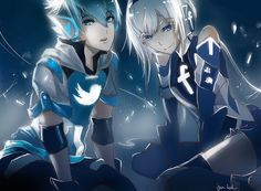 Facebook and twitter anime ver