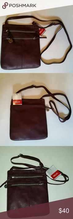 *NWT REDUCED* Relic Crossbody Bag *NWT* Relic Crossbody Bag, pretty raisin color ! Relic Bags Crossbody Bags