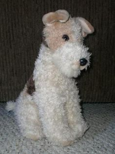 WIRE HAIR FOX TERRIER purebred DOG PLUSH STUFFED TOY collectible ANIMAL ALLEY