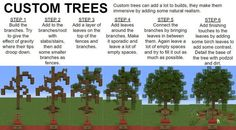 For anyone wanting a good way to build custom trees. Minecraft Park, Minecraft Tree, Minecraft Redstone, Minecraft Blocks, Minecraft Mansion, Minecraft Images, Minecraft Modern, Cute Minecraft Houses, Minecraft House Designs