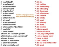 Some fun German phrases