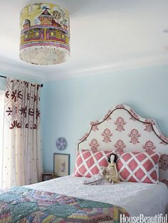 """""""The most special element is the quilt draped across my daughter's bed. It has been in my family forever and was on my parents' bed throughout my childhood. I adore knowing that my sweet girl is comforted by it each night."""" —Krista Nye Schwartz, Interior Designer"""