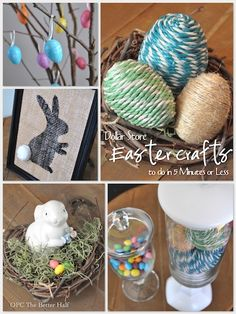 5 Minutes or Less: 5 Dollar Store Easter Decor Ideas