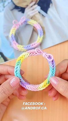 Diy Crafts Hacks, Diy Crafts Jewelry, Diy Crafts For Gifts, Bracelet Crafts, Fun Crafts, Diy Bracelets Patterns, Diy Friendship Bracelets Patterns, Diy Bracelets Easy, Braclets Diy