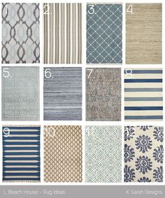 Favorite Rugs for a Beach House