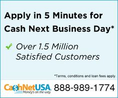 CashNetUSA is a leading online lender of subprime personal loans. As a subsidiary of Cash America Intl. Inc. (NYSE: CSH), a publicly-traded company. We have funded more than 4 million loans to consumers in over 30 U.S. states to date. Our cash advance services provide subprime customers with loans ranging from $100 up to $1,500 to face immediate money needs such as car repairs, monthly bills or emergency medical expenses. CALL 88-989-1774