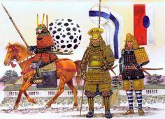 """""""Horse and foot guards of the shogun Tokugawa Iemitsu, 1643"""", Richard Hook"""